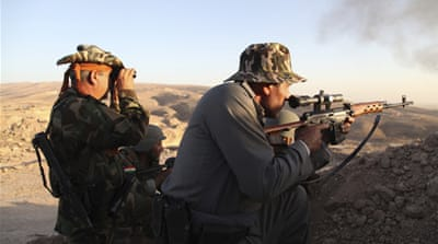 Massoud Barzani, president of Iraq's Kurdish region, said his forces are fighting a 'terrorist state' [Getty]