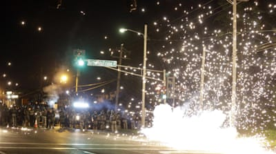 US police fire tear gas at protesters