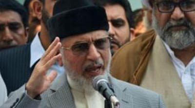 Qadri is chairman of Pakistan's PAT party and head of the MQI international network of religious schools. [AP]