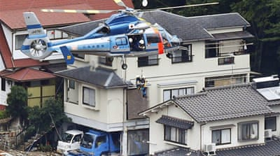 Japan landslides leave many dead