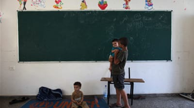 Gaza children unable to go back to school