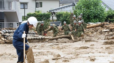 In Pictures:  Deadly landslides hit Hiroshima