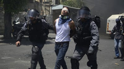 Clashes broke out in Jerusalem after the killing of Palestinian teenager Mohammad Abu Khdair in June [EPA]
