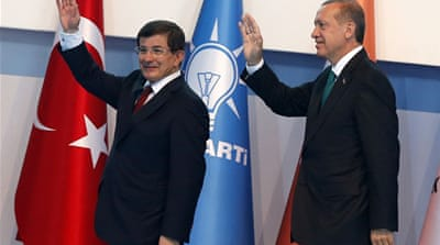 Foreign Minister Davutoglu's main task will be to keep the party together after Erdogan [Reuters]