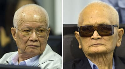 Cambodian court upholds sentences of Khmer Rouge chiefs