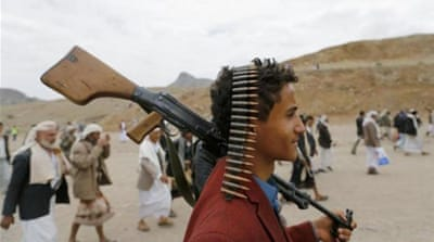 The Huthis have been battling security forces for months for control of key cities north of Sanaa [Reuters]