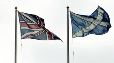 Polls predict an extremely close vote in the upcoming landmark referendum on Scottish independence [AP]