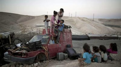 Palestinian Bedouin village of the Jahalin tribe in West Bank [EPA]