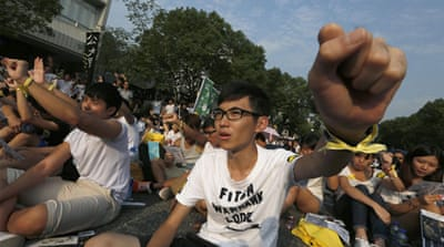 The boycott is part of a larger protest planned by the Occupy Central group [Reuters]