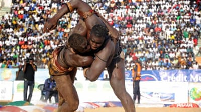 Wrestling mania grips Senegal's youth