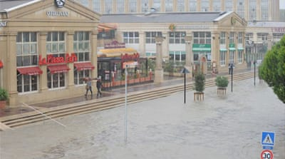 The southern French city of Montpellier in the department of Herault, was placed under high flood [AFP]