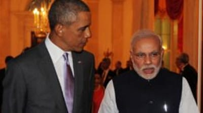 On Monday Obama hosted his Indian counterpart for a private dinner [Courtesy of Ministry of External Affairs, India]