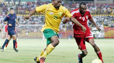 South Africa and Sudan played a qualifying match in Khartoum on Friday  [AFP]