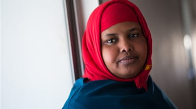 Fathima Haj Abdi lives in the the Via Slataper slum in Florence [Federico Scoppa/Al Jazeera]