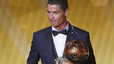 Ronaldo retained football's highest individual honor after scoring 61 goals last year [Reuters]