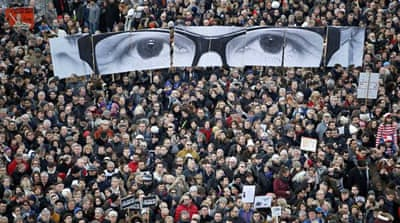 Millions of people have marched in France to show support for victims of the attack on Charlie Hebdo [EPA]