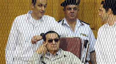 Under pressure from protesters, Mubarak and his sons were arrested and tried for corruption and conspiring to kill protesters, four years later the charges were dropped [EPA]