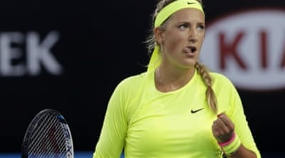 Azarenka's ranking had slipped last year due to injuries [AP]
