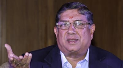 Srinivasan is the current ICC president as well [AP]