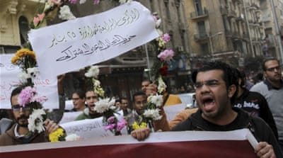 Protest deaths mark anniversary of Egyptian uprising