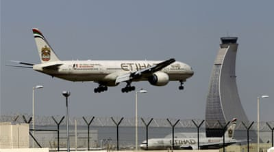 Etihad said it had suspended all flights to Baghdad with immediate effect and until further notice [AP]