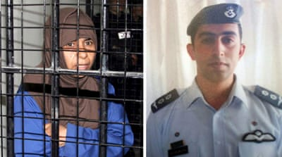 ISIL threatened to killed pilot Moaz al-Kasasbeh if death row prisoner Sajida al-Rishawi was not released by sunset on Thursday [EPA]