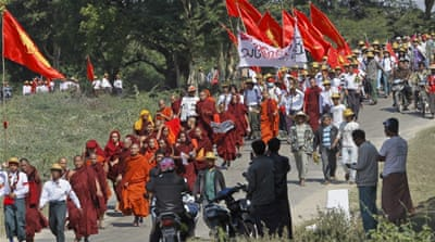 Myanmar students march against new education law