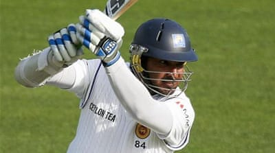 Sangakkara was given an ovation as he reached 12,000 runs but brushed off the achievement [GALLO/GETTY]