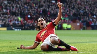 Falcao has now scored four goals for the club since his move last year [AFP]