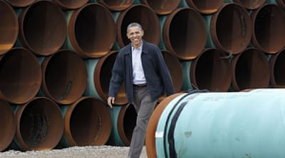 The White House spokesman said he does not expect Obama to sign any Keystone legislation that reaches his desk [AP]