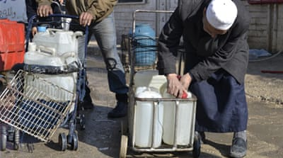 The Yarmouk camp's water supply was cut off, leading to a humanitarian catastrophe [PLHR]