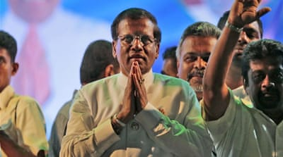 Sirisena will be looking to boost bilateral trade with India, now standing at around $1bn [AP]