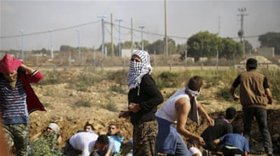 At least six Palestinians in Gaza were shot dead by Israeli troops on Friday [AP]