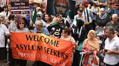 Protesters said the government and Australian Prime Minister Malcolm Turnbull should close the Pacific detention centres [AFP]