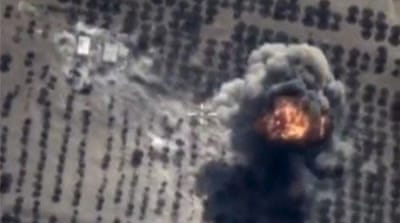 Russia air strikes target Syrian rebel positions