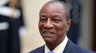 Guinea's President Alpha Conde easily wins re-election