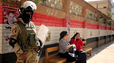Egypt's electoral commission has reported a low turnout so far [Amr Nabil/AP]