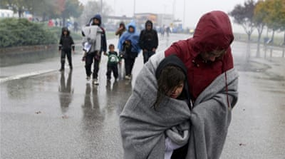 The UNHCR estimates there are more than 10,000 refugees in Serbia - more than double the daily average in the past month [AP Photo/Darko Vojinovic]