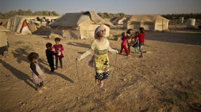 The UN says some 10 million children are in desperate need of humanitarian aid [AP]