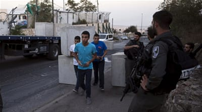 Ahmed Manasrah, a 13-year-old Palestinian child, was reportedly beaten by Israeli interrogators [Reuters]