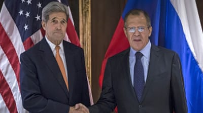 Russian FM Sergey Lavrov spoke to his US counterpart John Kerry about organising talks between Assad and the opposition [AP]