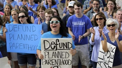 Right-wing organisations and activists in Texas and across the country have called for Planned Parenthood to be closed down [AP]
