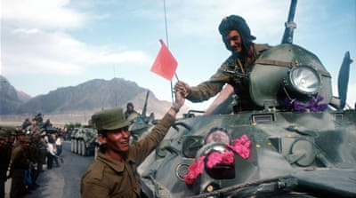 Soviet troops withdrew from Kabul, Afghanistan, on May 15, 1988 [Robert Nickelsberg/Getty Images]