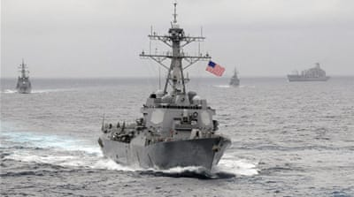 The USS Lassen is a guided missile destroyer [Handout/Reuters]