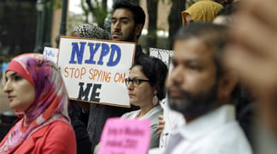 The NYPD's surveillance operations monitored entire neighbourhoods and built databases on Muslims [Mary Altaffer/AP]