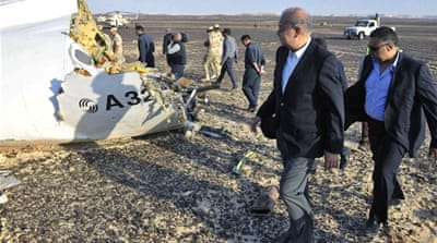 Egyptian Prime Minister Sherif Ismail visited the crash site [EPA}