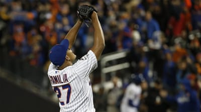 The Mets will try to square the series in Game Four in New York on Saturday [AP]