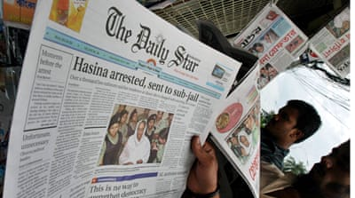 Bangladeshi military officers stand accused of ordering companies not to advertise in major newspapers [Rajesh Kumar Singh/AP]