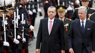 Erdogan made the comments during a state visit to Belgium [Reuters]