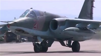 Russian fighter jets began air raids against Syrian opposition fighters and ISIL late last month [Reuters]